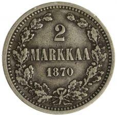 Suomi 1870 2 Markkaa KL5