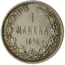 Suomi 1874 1 Markka KL6
