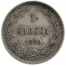 Suomi 1890 1 Markka KL6