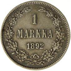 Suomi 1892 1 Markka KL5