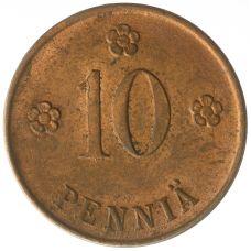Suomi 1921 10 Penniä KL8