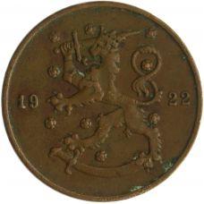 Suomi 1922 10 Penniä KL4