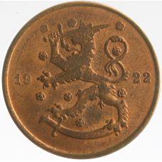 Suomi 1922 10 Penniä KL7