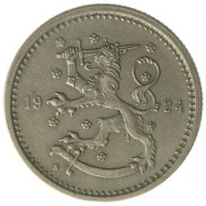 Suomi 1924 1 Markka KL6