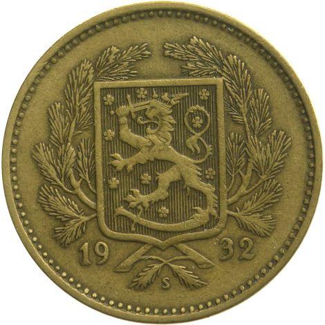 Suomi 1932 5 Markkaa KL5