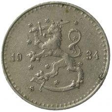Suomi 1934 25 Penniä KL4