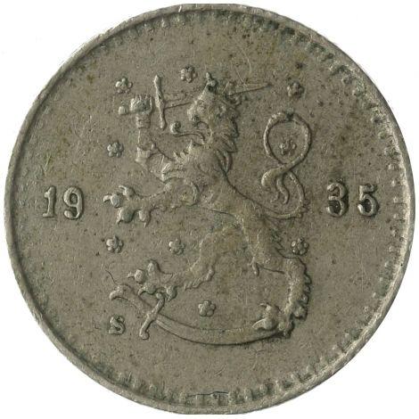Suomi 1935 25 Penniä KL4