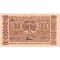 Suomi 1939 10 Markkaa Litt D P70a KL6