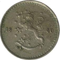 Suomi 1940 25 Penniä KL4