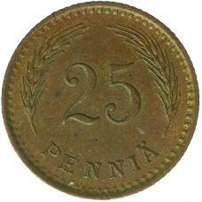 Suomi 1940 25 Penniä Kupari KL4