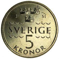 Ruotsi 2016 5 Kruunua UNC