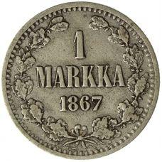 Suomi 1867 1 Markka KL3