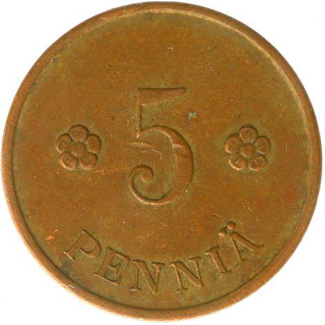 Suomi 1929 5 Penniä KL4