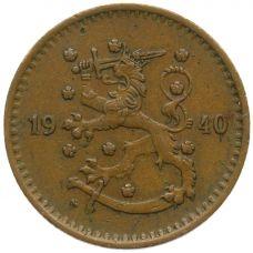 Suomi 1940 1 Markka Kupari KL4