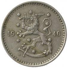 Suomi 1940 1 Markka Rauta KL4