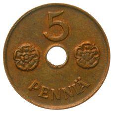 Suomi 1942 5 Penniä KL4