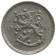 Suomi 1947 1 Markka KL2