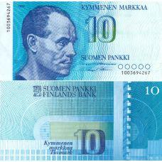 Suomi 1986 10 Markkaa Allekirjoitukset P113a