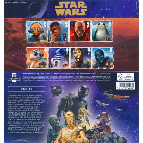 Englanti 2017 Star Wars Postimerkkejä