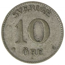 Ruotsi 1909-1942 10 Öre HOPEA KL4-5