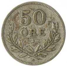 Ruotsi 1911-1939 50 Öre HOPEA KL4-6