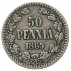 Suomi 1865 50 Penniä Kl4-5
