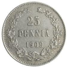 Suomi 1909 25 Penniä KL6