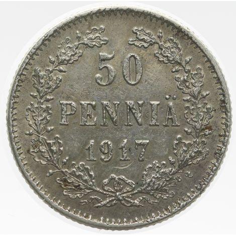 Suomi 1917 50 Penniä I KL4-5