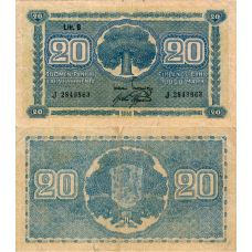 Suomi 1945 20 Markkaa Litt B P86 J-Sarja KL2-4