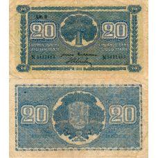 Suomi 1945 20 Markkaa Litt B P86 N-Sarja KL2-4