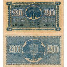 Suomi 1945 20 Markkaa Litt B P86 V-Sarja KL4
