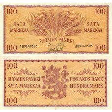 Suomi 1957 100 Markkaa P97 AD-Sarja KL4