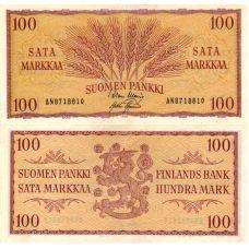 Suomi 1957 100 Markkaa P97 AN-Sarja KL5