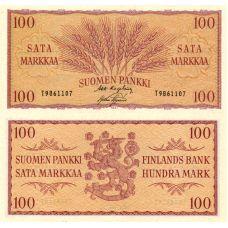 Suomi 1957 100 Markkaa P97 T-Sarja KL8-9