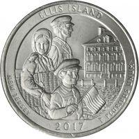 "USA 2017 $0,25 New Jersey Ellis Island ""D"" UNC"