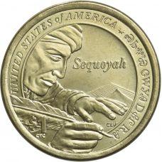 """USA 2017 $1 Sacagawea Native American """"D"""" UNC"""
