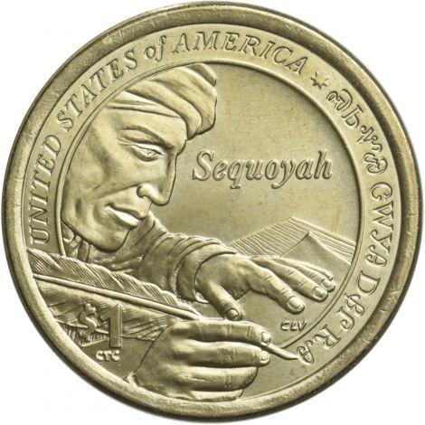 """USA 2017 $1 Sacagawea Native American """"P"""" UNC"""
