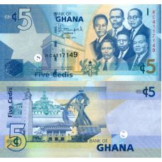 Ghana 2015 5 Cedis P38f UNC