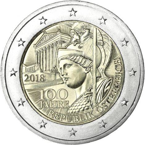 Itävalta 2018 2 € Itävallan tasavallan 100-vuotisjuhlavuosi UNC