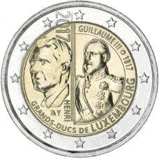 Luxemburg 2017 2 € Guillaume III 200 vuotta UNC
