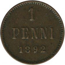 Suomi 1892 1 Penni KL4