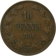 Suomi 1896 10 Penniä KL2-3