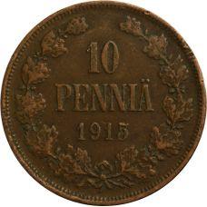 Suomi 1915 10 Penniä KL6