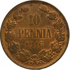 Suomi 1916 10 Penniä KL7