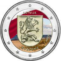 Latvia 2017 2 € Kurzeme VÄRITETTY