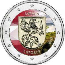 Latvia 2017 2 € Latgale VÄRITETTY