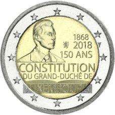 Luxemburg 2018 2 € Perustuslaki 150 vuotta UNC