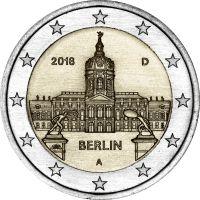 Saksa 2018 2 € Charlottenburgin linna Berliinissä A UNC