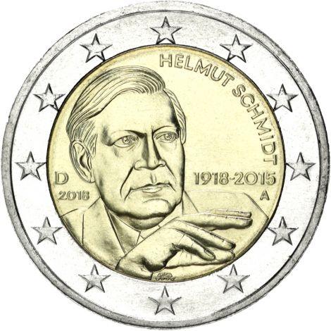 Saksa 2018 2 € Helmut Schmidt A UNC