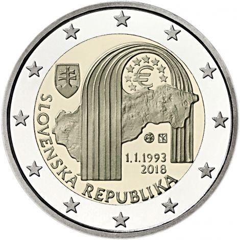 Slovakia 2018 2 € Tasavalta 25 vuotta UNC